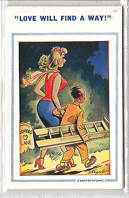Bamforth comic brown triangle courting   no 1100 unposted very/good/mint