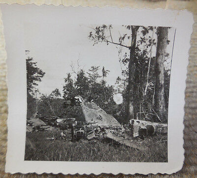 Vintage WW II B/W Photograph of Destroyed Japanese Aircraft #1 • $9.99