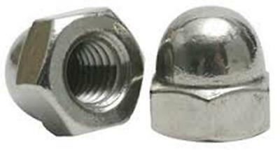 Stainless Steel  Acorn Cap Hex Nuts NC 3/8-16, Qty-25