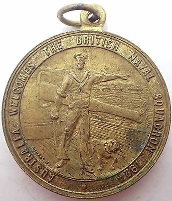 Australia Welcomes The British Naval Squadron 1924 Medal