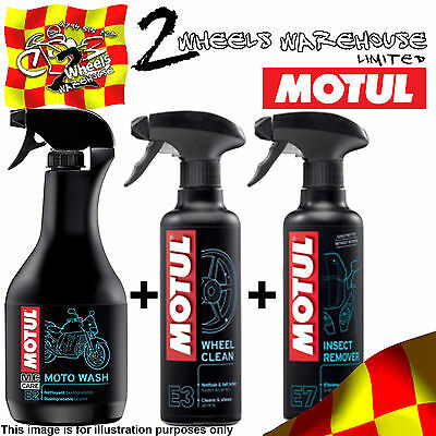 Motul E2 E3 E7 Moto Wash Wheel Clean Insect Remover Spray Cleaner Soap Kit3