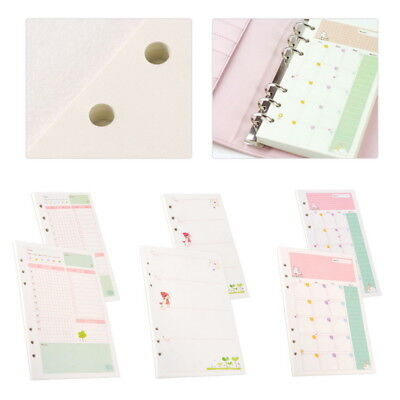 Thboxs01 A5 Six-Hole Cartoon Month Weekly Plan Daily Planner Diary Schedule