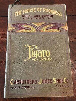 Orig 1912 Carruthers-Jones Shoe Catalog FIGARO Brand Work Boots Fancy Shoes
