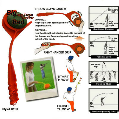 Hand Held Clay Target Hand Thrower Skeet Trap Manual Trap for Shooting Hunting