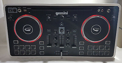 Gemini Mix2Go Portable Dj Sound Station With Led Lights & Bluetooth - Great Cond