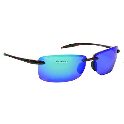 New Polarized Calcutta Biscayne Sunglasses Tortoise Frame Blue Mirror BC1BMTORT