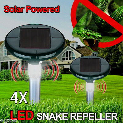 4x Solar Powered Ultrasonic Bird Repeller Pest Repellent Cat Rats Dogs Raccoons