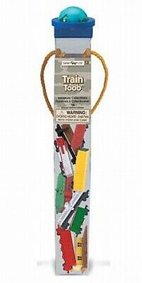 Railway Train, 10 Pc Figures Collector Set in Tube, Toob, Tube