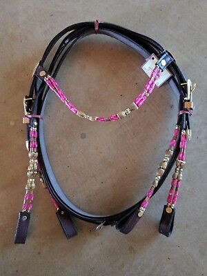 Beaded Bridle - Full size - Pink
