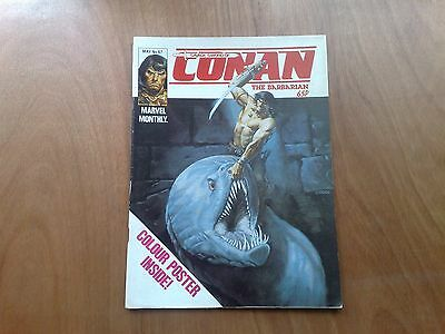Savage Sword Of Conan #67 Uk Marvel Monthly May 1983 With Centre Poster F/cond