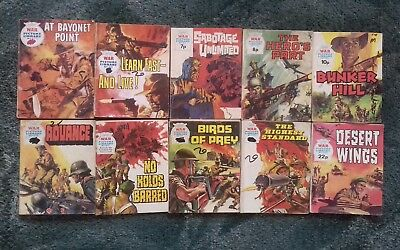 10 X War Picture Library Comics,bulk Lot Collection,2