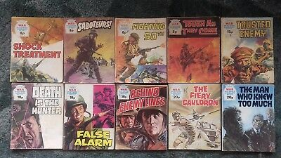 10 X War Picture Library Comics,bulk Lot Collection,5