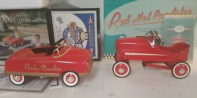 LOT OF 2 Hallmark kiddie PEDAL car classics 1940 Gendron Roadster die cast MINT