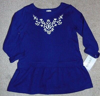 ~NWT Girls CARTER'S Flowers Long Sleeve Shirt! Size 18 Months Cute:)*