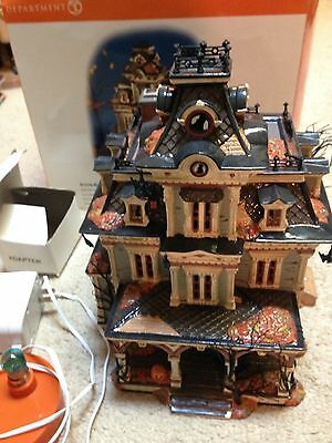 Dept.56 Grimsly Manor With Box In Working Order
