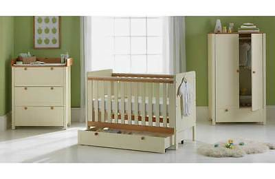Classic Two-Tone Nursery Furniture Set - White and Pine:The Official Argos Store