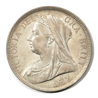 Great Britain Mature Draped Victoria Brock Half Crown 1897 About Unc KM782