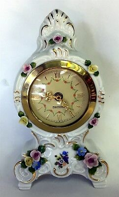 Mid Century Dresden Mantle Clock Germany Mint