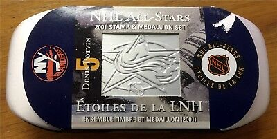 2001 Nhl All-Star Canada Post Stamp And Coin Set Mib Denis Potvin