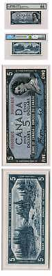 Bank of Canada Devils Face Coyne/Towers $5 1954 BC-31a PMG 64 EPQ Low Serial Num