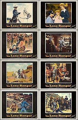 THE LONE RANGER CLAYTON MOORE Complete Set Of 8 Individual 11x14 LC Prints 1956