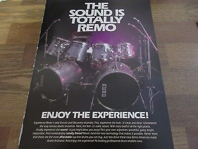 Remo Drums - Encore and Discovery Drumsets 1987 Magazine Print Ad