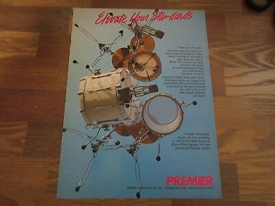 Premier Drums - Resonator - Elevate Your Standards 1987 Magazine Print Ad
