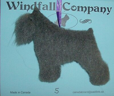 Grey Crop Ear Bouvier des Flandres Dog Plush Christmas Canine Ornament #5 by WC
