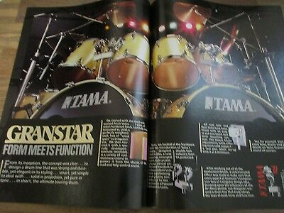 Tama Drums - Granstar - Form Meets Function - 2-Page 1987 Magazine Print Ad