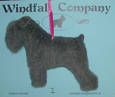 Grey Natural Ear Bouvier des Flandres Dog Plush Christmas Ornament #1 by WC