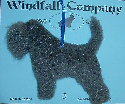 Grey All Natural Bouvier des Flandres Dog Plush Christmas Ornament # 3 by WC