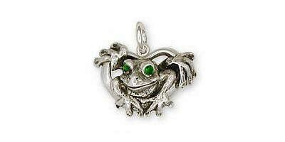 Frog Charm Jewelry Sterling Silver Handmade Frog Charm FG5-XC