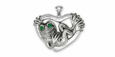 Frog Pendant Jewelry Sterling Silver Handmade Frog Pendant FG24-XP