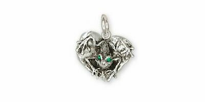 Frog Charm Jewelry Sterling Silver Handmade Frog Charm FG23-XC