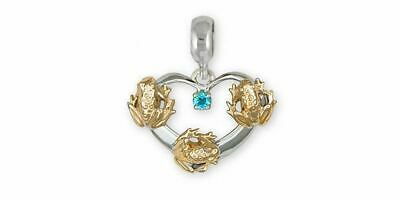 Frog Charm Slide Jewelry Silver And Gold Handmade Frog Charm Slide FG20-TTSPNS