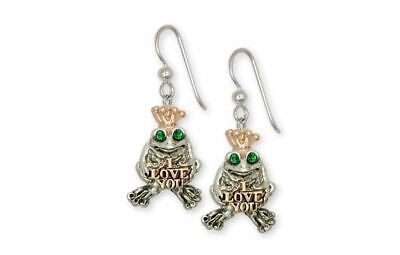 Frog Earrings Jewelry Silver And Gold Handmade Frog Earrings FG18L-TTE