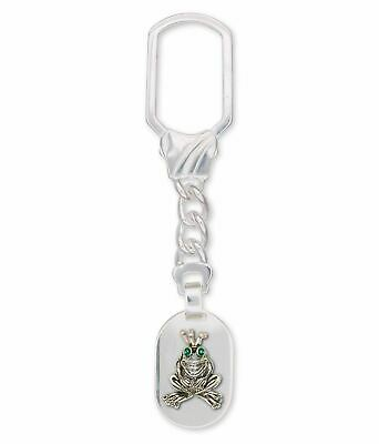 Frog Key Ring Jewelry Sterling Silver Handmade Frog Key Ring FG18-XKRE