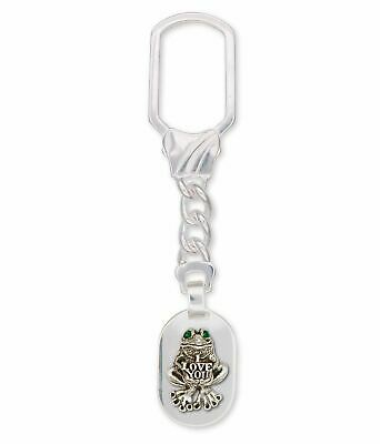 Frog Key Ring Jewelry Sterling Silver Handmade Frog Key Ring FG13-XKE