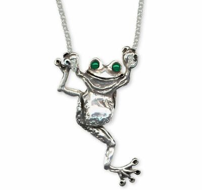 Frog Necklace Jewelry Sterling Silver Handmade Frog Necklace FG1-XNK