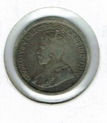 1917 Canadian Circulated  George V Silver Five Cent Coin!