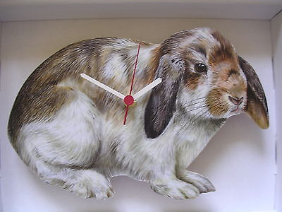 Loped Ear Rabbit Wall Clock. New And Boxed.