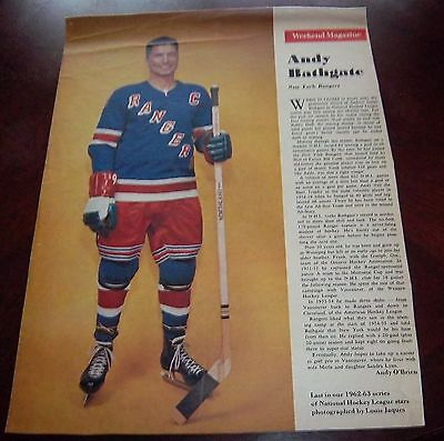 Andy Bathgate # last one issue Weekend Magazine Photos 1962 -1963 Toronto Star
