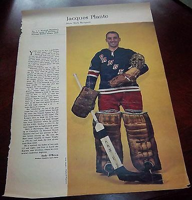 Jacques Plante # 4 issue Weekend Magazine Photos 1963 -1964 Toronto Star
