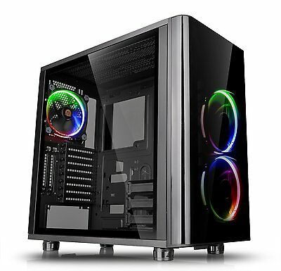 Thermaltake View 31 TG RGB Tempered Glass Mid Tower ATX Gaming Computer PC Case