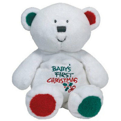Baby TY - MY BABY BEAR the Bear (Baby's First Christmas) - MWMTs BabyTY Plush