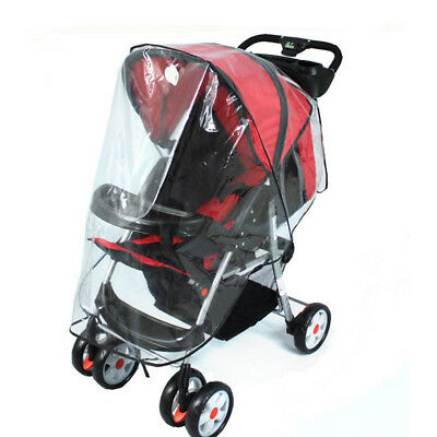 Universal Clear Stroller Rain Cover Buggy Baby Pushchair Dust Shield Wind Shield