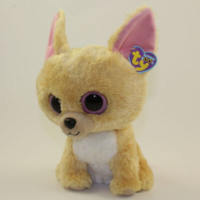 TY Beanie Boos - NACHO the Chihuahua (Solid Eye Color) (Medium Size - 9 inch) NM