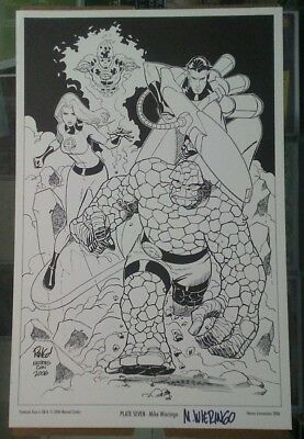 Mike Wieringo Fantastic Four Print Signed Heroes Con 2006 Sale!!