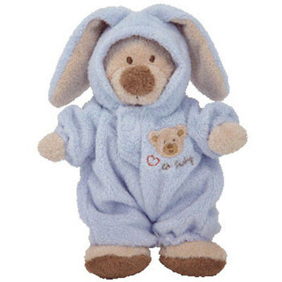 Baby TY - PJ BEAR (Blue) (Small w/ Removable PJ's - 7 Inches) - MWMTs BabyTy