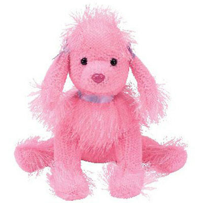 TY Punkies - FLAIR the Pink Poodle Dog (8 inch) - MWMTs Stuffed Animal Toy